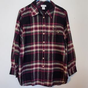 ***3 for $15 Soft Surroundings Flannel in Sz Lg